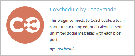 Coschedule Plugin