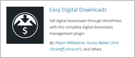 Easy Digital Dwnloads Plugin