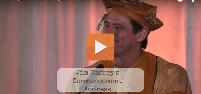 Comic Actor Jim Carrey Commencement Speech At Maharishi University