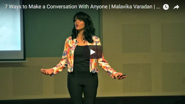 Malavika Varadan Speech | 7 Ways to Make a Conversation With Anyone