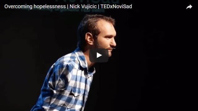 Nick Vujicic Youtube About Overcoming Hopelessness