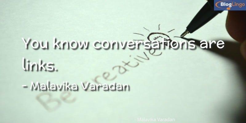 Radio Presenter Malavika Varadan Quote 2