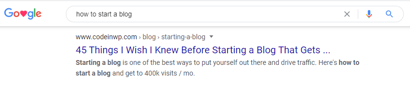 Create Blog Search Results Image