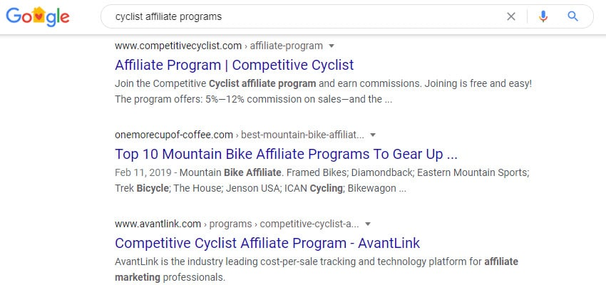 cyclist affiliate programs