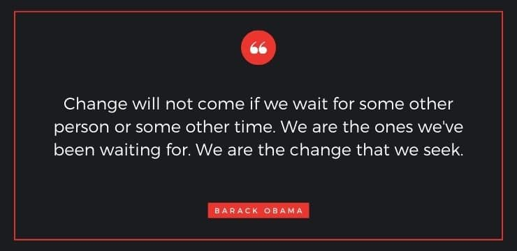 Inspirational quote by Barack Obama