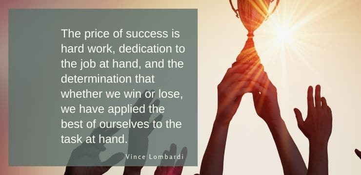 Inspirational by quotes Vince Lombardi